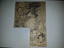 Abe Saperstein Harlem Globe Trotters Basketball 1951 Cartoon Sketch VERY RARE