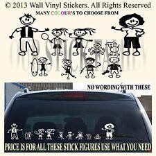 Stick coche familiar van pegatinas Completa usted obtiene todos 10! Figuras 1