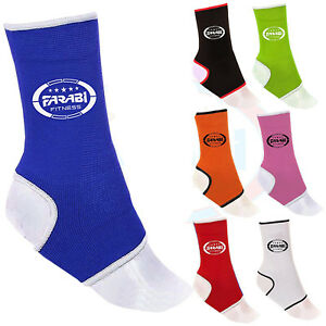 Farabi Muay Thai Ankle Support Elasticated Injury Strain Prevent Ankle Pair.