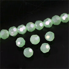Glass Spacer Beads For Earring Bracelet Diy 100Pcs 4Mm Green Ab Round Crystal