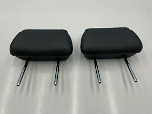 2011 - 2015 AUDI A8 A8L - REAR SEAT LEFT & RIGHT HEADRESTS LEATHER BLACK SET OEM