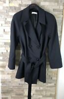 Windsmoor Ladies Size 14 Navy Belted Double Brested Jacket Coat