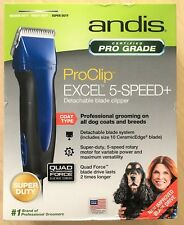 Andis Excel 5 Speed Detachable Blade Clipper Blue(Used)