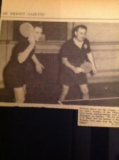 73-1 Ephemera 1957 Picture Table Tennis Ramsgate P Bing Ray Roberts