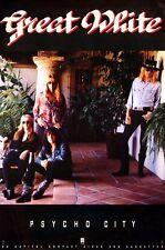 Great White 1992 Psycho City Original Promo Poster