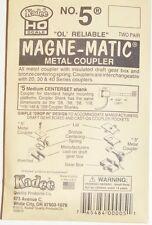 Kadee HO scale  # 5  'OL' Reliable Magne-Matic couplers