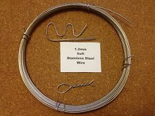 1.2mm x 10m 18SWG SOFT Stainless Steel Wire Locking Craft Safety Tying Sculpting
