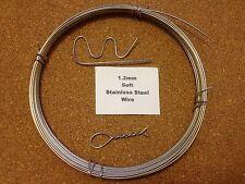 1.2 Mm x 10 M 18 pulgadas Swg suave recocido de alambre de acero inoxidable de bloqueo de seguridad esculpir