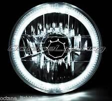 """7"""" H6024 / 6014 Halogen White LED Halo Ring H4 Light Bulb Angel Eye Headlight"""