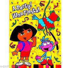 DORA the Explorer FIESTA INVITATIONS (!6) ~ Birthday Party Supplies Boots Diego
