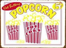 Vintage Style Popcorn Verkauf Gastro Imbiss USA Metall Deko Plakat