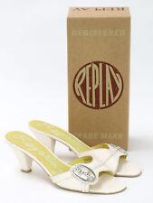 Replay Calzado Mujer Blanca patente Mula Talla Eu 39 (UK 6)