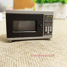 Dollhouse Miniature Kitchen Appliances Microwave Oven 1:12 Scale Model Black