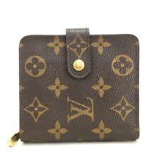 100% Authentic Louis Vuitton Monogram Compact Zip Bifold Wallet /u277