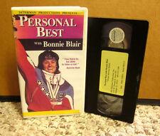 BONNIE BLAIR motivational self-help Olympics VHS taking risks Personal Best