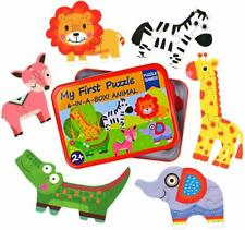 Jigsaw puzzles for kids 3 + 4 + 5 + 6 pieces 6 patterns Jungle animals