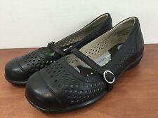 AETREX EL30W Women's Alana Mary Jane Leather Shoes Mosiac Layer Insole Size 5 XW