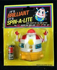 Spin A Lite Robot Wind Up 1960 Battery Toy Unopened In Package Old Store Stock