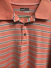 🔥⛳�🔥Grand Slam Golf Men's Activewear Polo Shirt 2Xl Orange Striped 🔥⛳�🔥