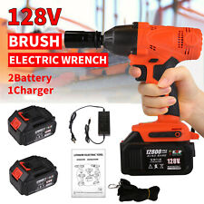 Electric Cordless Impact Wrench Torque Drill Power Tool Equipment + 2 Batteries