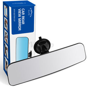 ELUTO Car Truck Van Wide Angle Rearview Mirror Curved Rear View Mirror Suction