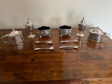 More details for beautiful william comyns & sons 6 piece cruet set, neo-classical in style 1933