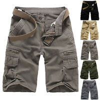 Mens Summer Fashion Hot Casual Short Pants Cargo Combat Shorts Army Style Pocket