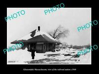 OLD LARGE HISTORIC PHOTO GLEASONDALE MASSACHUSETTS THE RAILROAD STATION c1920