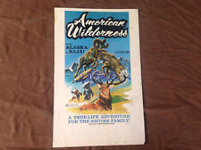 1970 American Wilderness Original Movie House Poster