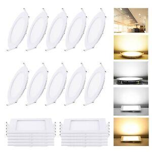 10 x LED Spot Einbaustrahler Panel Decken Wandleuchte Ultraslim Deckenleuchte