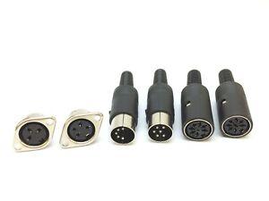 DIN-Steckverbinder   3-8 polig   Stecker, männlich, weiblich, Buchse