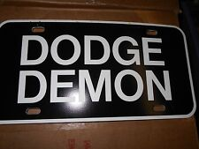 1970 1971 1972 DODGE DART DEMON BOLD LOGO LICENSE PLATE NEW BLACK WHITE