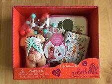 "NIB Our Generation Life Science set 18"" dolls Biology anatomy torso book molecul"