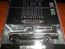 GREENLIGHT 1/64 BLACK BANDIT SERIES 13 BLACK 1972 CHEVROLET C-10 WITH CAMPER SHE