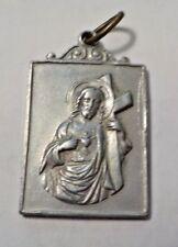 Petit Evangile Du Saint Nom Du Jesus Jesus & Crucifix Silver Tone Medal