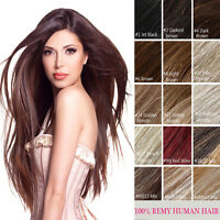 "Half Head Invisible Line  Wire 100% Remy Human Hair Extensions 20"" 80g 100g 120g"