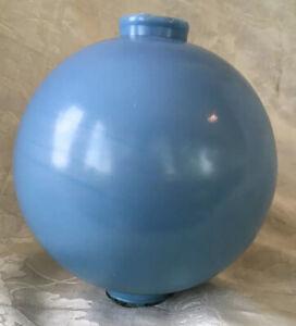 "Vintage Delphite Blue Milk Glass LIGHTNING ROD BALL ~ 4 1/2"" Round Glass Globe"