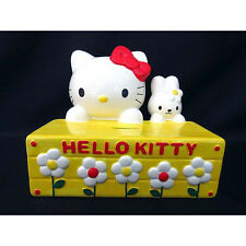 1999 NEW Sanrio Hello Kitty Pottery Rabbit Kitty Piggy Bank from Japan Yellow FS
