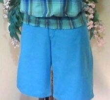 POLO RALPH LAUREN. W31/L Shorts Bermuda 100%Tight Cotton Turquoise High Quality
