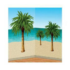 Party Supplies Birthday Decoration Hawaiian Luau Palm Tree Wall Scene Setters