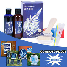 100/200ml Cyanotype Set reates a blueprint or pictures with Cyanotype Kit