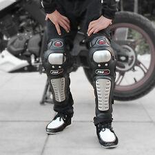 4PCS Motorcycle Adult Alloy Steel Motocross Elbow Knee Shin Guard Pads Set