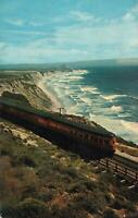 1957 VINTAGE Southern Pacific Coast Daylight Train San Francisco to LA POSTCARD