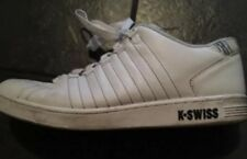 K-Swiss mens white leather trainers UK 11