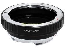 Anello adapter x montare ottiche Olympus OM su corpi Leica M. Adattatore. ALM.