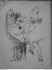 1894 CF 1 DANSEUSE TUTU BALLERINE JEUNE FILLE APPRENTISSAGE DESSIN LOUIS LEGRAND