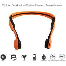 Bluetooth Wireless Sport Headphone Bone Conduction Earphone Mic for Tablet