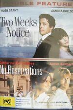 DVD Two Weeks Notice Hugh Grant + No  Reservations Catherine Zeta-Jones Region 4