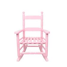 Vintage Indoor/Patio/Porch Solid Wooden Child nursing Rocker/Rocking Chair Pink