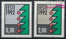 Estland 195y-196y floureszierendes Papier postfrisch 1992 Weihnachten (8843972